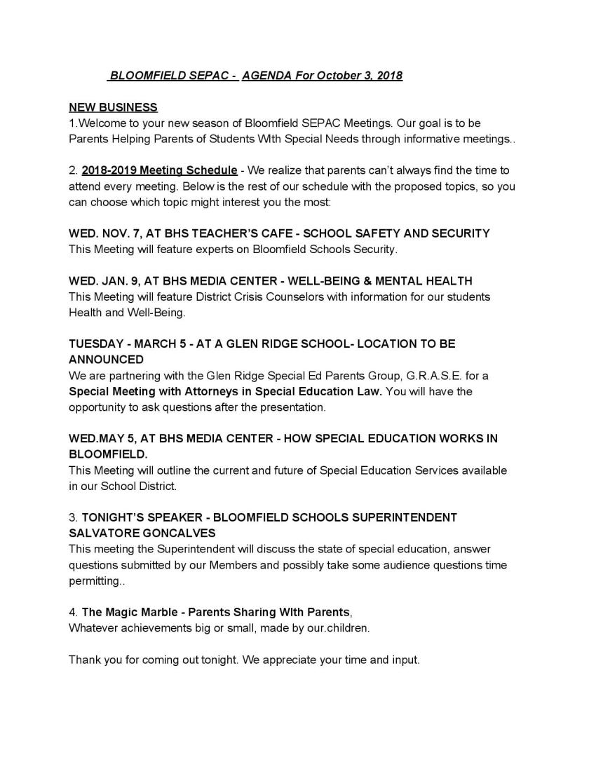 BLOOMFIELD SEPAC -  AGENDA For October 3, 2018-page-001.jpg